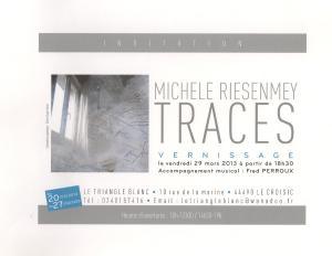 invitation expo ' traces' triangle blanc2013