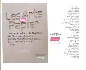 invitation ARTS PAPIER 2015 001